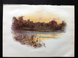 Cassell 1902 Antique Print. Newstead Abbey, Notts. Lord Byron